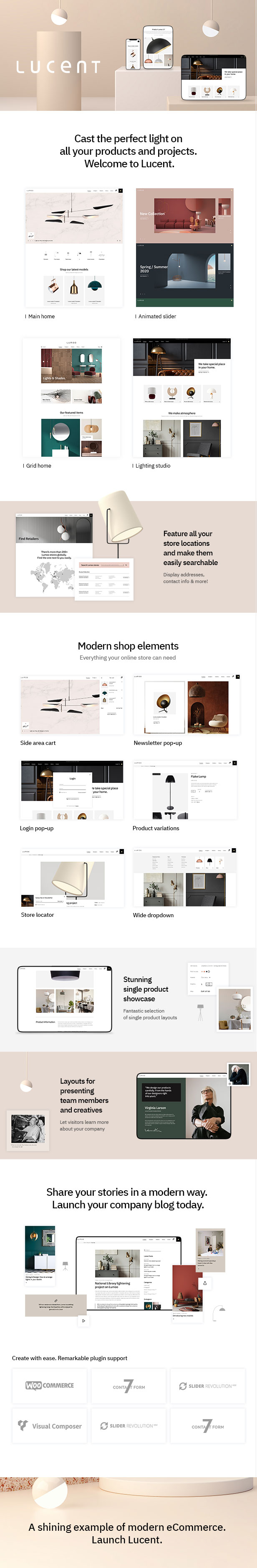 Lucent - Lighting Shop Theme - 1